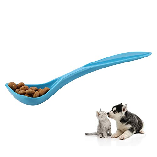 Pet Long Handle Spoon Plastic Special Curved Dog Cat Can Tin Spoon Food Mixing Spoon