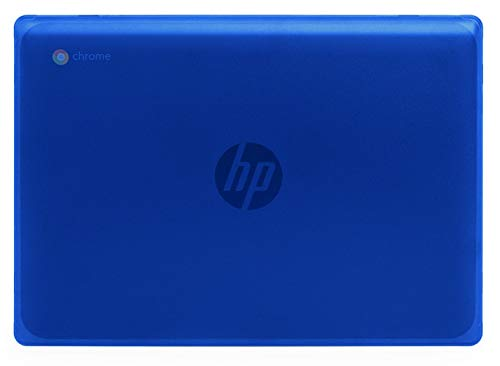 """mCover Hard Shell Case for New 2020 11.6"""" HP Chromebook 11 G8 EE laptops (Blue)"""