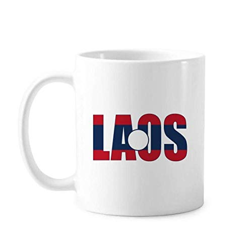 Tasse Laos Länderflagge Namenstasse Keramik Kaffee Porzellan Tasse Geschirr