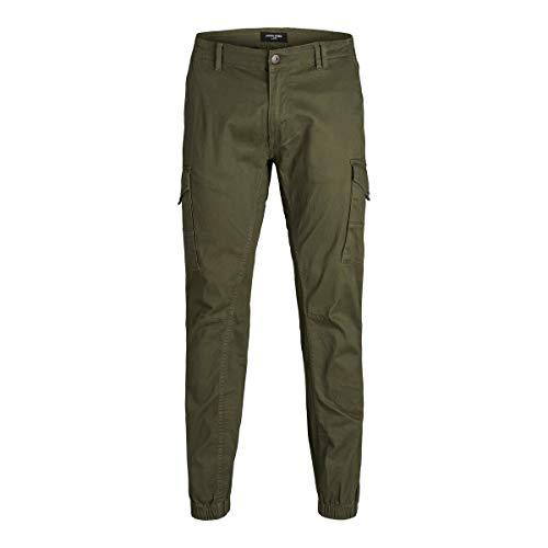 JACK & JONES Herren JJIPAUL JJFLAKE AKM 542 Nigh PS Jeans, Olive Night, 50W / 32L