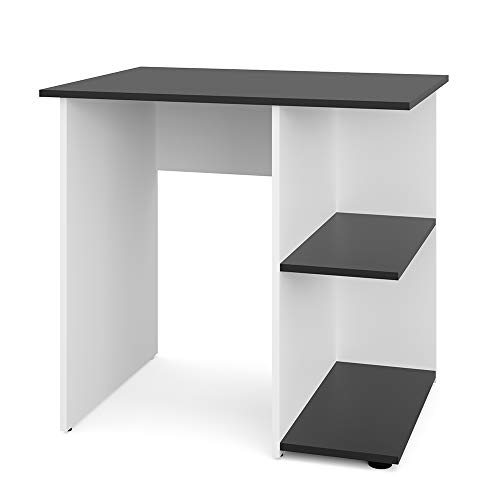 Vicco Schreibtisch Simple 76 x 82 cm - Schminktisch PC Tisch Kinderschreibtisch Arbeitstisch Computer Regal Büro Eckschreibtisch (Weiß/Anthrazit)