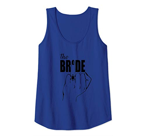 Womens Engaged Wifey to Be, Future Bride, Ring Finger The Bride Tank Top