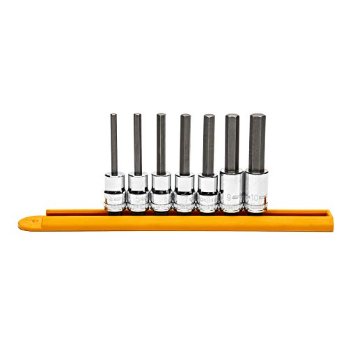 GEARWRENCH 7 Pc. 3/8' Drive Mid Length Hex Bit Metric Socket Set - 82546
