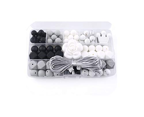 Buy Bargain Baby Unfinished Silicone Beads Flower Shaped DIY Jewelry Necklace Made Silicone,as Show