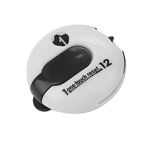 Golf Score Zähler Golf Scorer-Hut-klipp Score Zähler Anschreiber Werkzeug Portable One Touch-Reset-Sport (weiß)