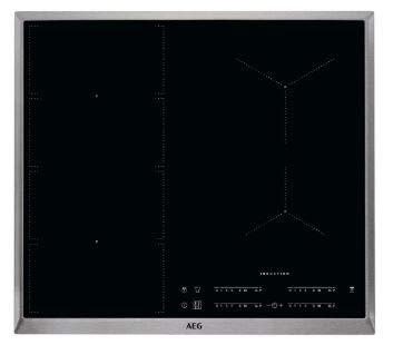 AEG IKE64471XB Autarkes Kochfeld / Herdplatte mit Touchscreen, Topferkennung & Hob²Hood-Funktion / Induktionskochplatte / 4 Kochzonen / Edelstahlrahmen / 60 cm