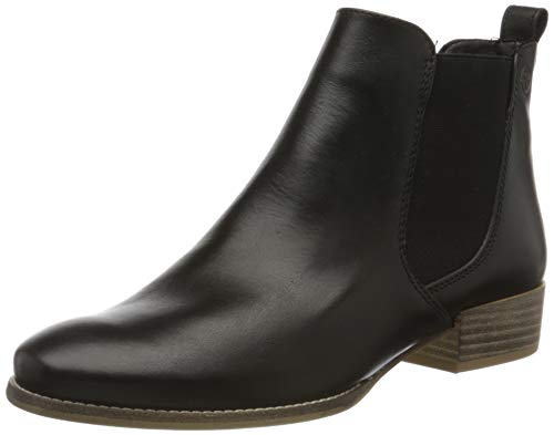 Tamaris Damen 1-1-25315-24 Chelsea Boots, Schwarz (Black Leather 003), 40 EU