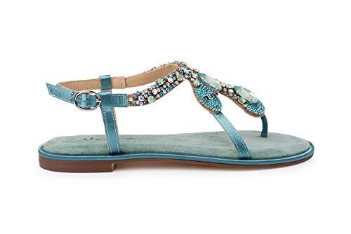 Alma en Pena Sandale Größe 40, Farbe: 266 Suede Mint