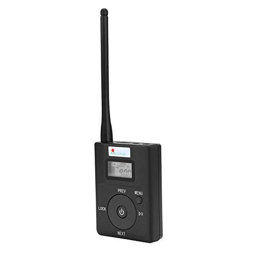Richer-R Portable Wireless Audio Transmitter, Tragbare Wireless FM Sender Stereo Radio Broadcast Adapter,Kabellos Audio Transmitter FM Sender mit Antenne für Tourismus Konferenzzimmer Campus Fahren