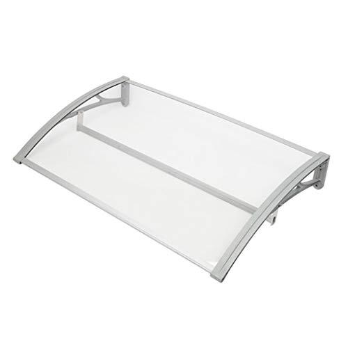 Outdoor luifel tuin met transparante verlichting luifel, Patio Shelter luifel dakbedekking, aluminium legering beugel voor veranda (60 × 100cm)