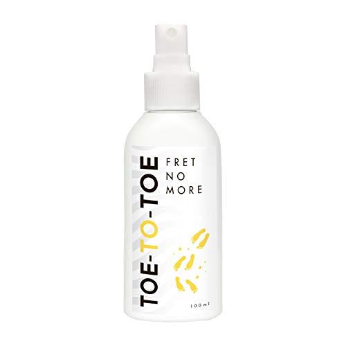 Spray Deodorante Piedi Toe-to-Toe I 100 ml I Effetto Antiodore, Idratante ed Antitraspirante I Trattamento Sudorazione eccessiva dei Piedi I Con Olio