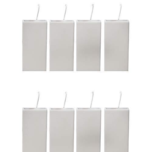 DRULINE 8er Set Luftbefeuchter Wasserverdunster aus Keramik je 300ml für Heizkörper Set inkl. Haken Verdunster - beige matt - Wasserverdunster verdampfer verdunster Luftreiniger – Neutral Rechteckig 20 cm x 8,0 cm x 3,5 cm Weiß