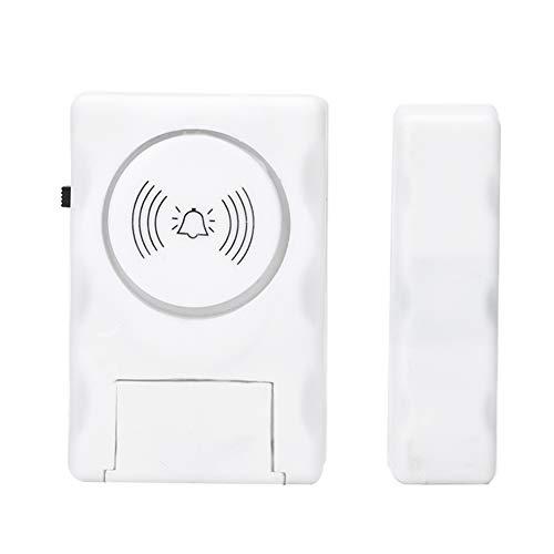 Timbre de timbre de alarma antirrobo, sensor de alarma magnética de seguridad de entrada de puerta de ventana inalámbrica para antirrobo de edificios residenciales, oficinas, mostradores de tiendas, e