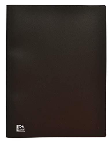 OXFORD Protège-Documents Initial A4 80 vues / 40 Pochettes Couverture Polypro Noir
