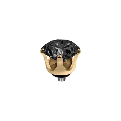 MelanO Twisted Ringaufsatz Krone Gold Black