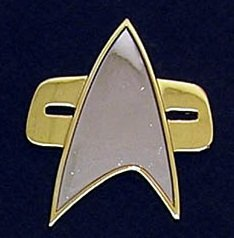 Filmwelt Shop Star Trek Communicator Uniform Metall PIN Voyager DS9 Movie