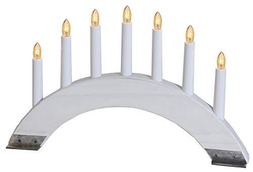 Star 247-38 chandelier Viking Bow 7 lumières, couleur: finition blanc matériel: bois/métal, ca. 27 cm x 42 cm boite coloré