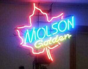 Amymami Beer Bar Molson Canadian Neon Sign Lamp 17in Very Ranking TOP1 popular Golden
