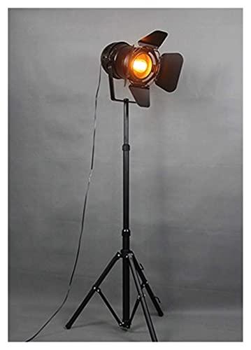 ZCYXQR Lámpara de pie E27 LED Retro trípode lámpara de pie de una Sola Cabeza lámpara de pie Retro de Hierro Forjado Negro para Comedor Dormitorio Sala de Estar