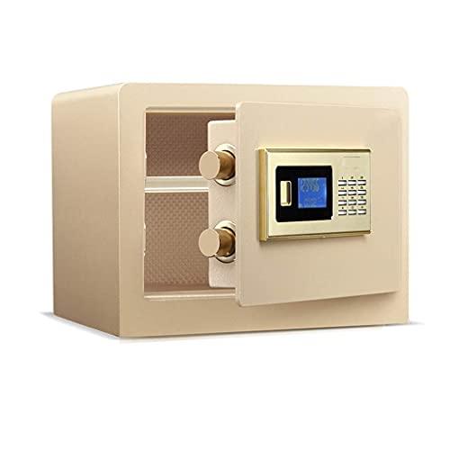 XiYou Caja Fuerte de Seguridad, para Seguridad en el hogar Teclado Digital antirrobo Caja Fuerte de Doble Capa Dorada 38 * 30 * 30cm Caja Fuerte