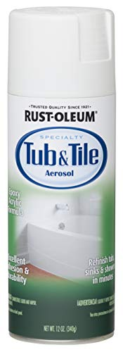 Rust-Oleum 280882 Specialty Tub and Tile Spray Paint, 12-Ounce, White