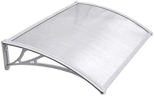 Marquesina Puerta Exterior Tejadillo de protección Canopy del jardín de la ventana 75x120cm Fit Fit   Patio porche Refugio al aire libre PC Tablero de resistencia sólida resistente a los rayos UV   fo