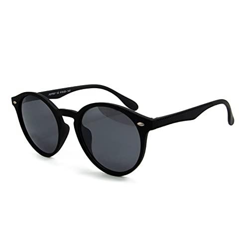 Óculos De Sol Cali 2.0 Redondo Feminino Masculino Moderno C/ Uv400 (Preto Fosco)