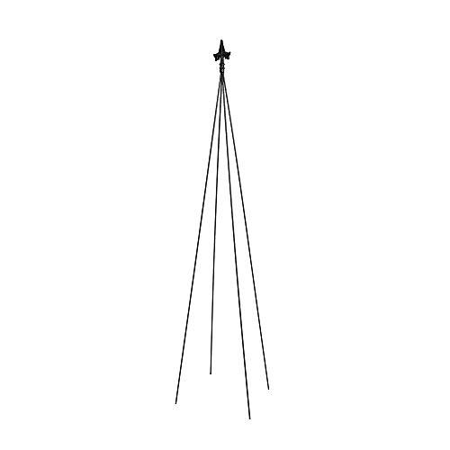 Achla Designs Fleur-de-lis Garden Trellis, 78-Inch