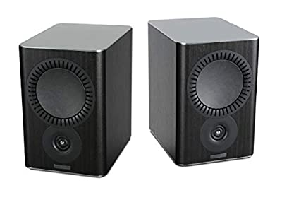 Mission QX-2 Bookshelf Speakers - Black Wood (Pack of 2) by Mission