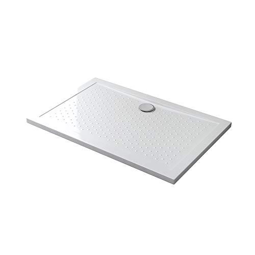 Mai & Mai receveur de douche anti glisse bac à douche blanc 80x140x4cm rectangulaire LAR