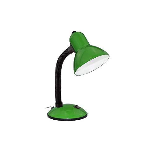 Wonderlamp W-F000002 W-F000002-Flexo LED de Cuerpo Flexible 6W de Potencia Mod. Backs to 50's luz Neutra (4000K) Color Verde, 220 W