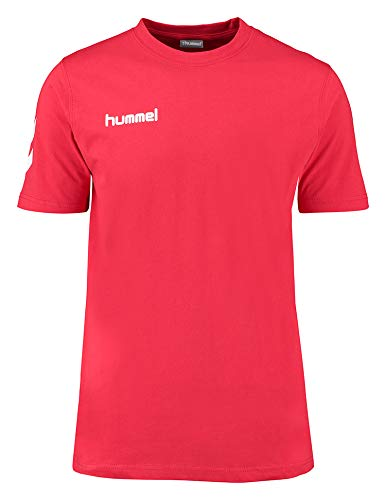 hummel Core T-Shirt Mixte Adulte, Rouge Vif, FR : M (Taille Fabricant : M)