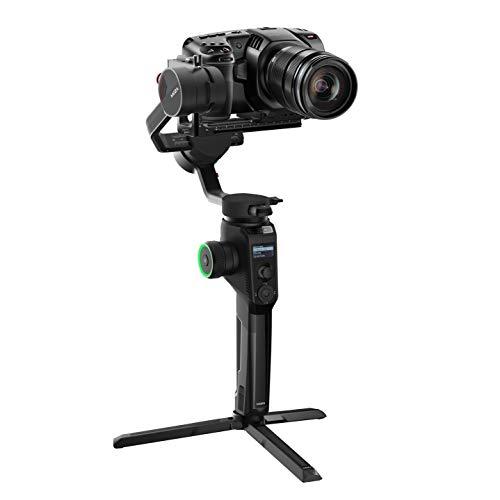 Moza Aircross 2-3 Axis Estabilizador electrónico Ultraligero para cámaras sin Espejo Carga útil máxima 3, 2 kg Negro ACGN05