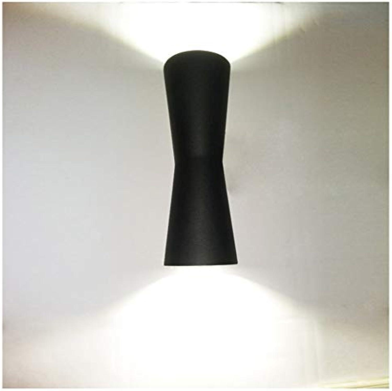 Geformt Kreative Outdoor LED Wasserdichte Wandleuchte Aluminium Gartenlicht Gang Balkon Licht Auenwandleuchte LED [Energieklasse A + +] (Farbe   Warmes Licht)