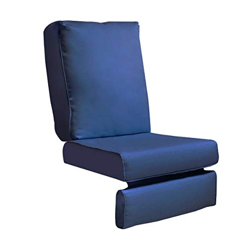 Indoor Outdoor Recliner Replacement Cushion, Patio Furniture Chair Sofa Washable Cushion Deep Seat, UV Resistant, Fade Resistant and Water Spill Repellet, Cover Can be Replaced (Navy Blue)