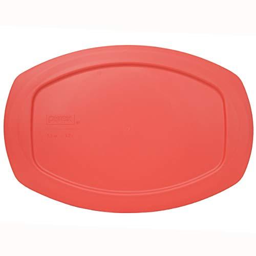 Pyrex C-702-PC Red 1.3 Quart Oval Easy Grab Plastic Storage Lid