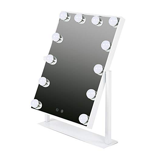 Hollywood-Art Eitelheit-make-upspiegel-tafellamp, vierkant werkblad, super heldere cosmetische spiegel, verlicht de tafel-inzetstukken met intelligente instelbare LED-Bi