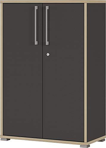 Germania 1692-58 abschließbarer Aktenschrank GW-Duo in der Farbe Anthrazit, 75 x 115 x 38 cm (BxHxT), 75x112x38 cm (BxHxT)