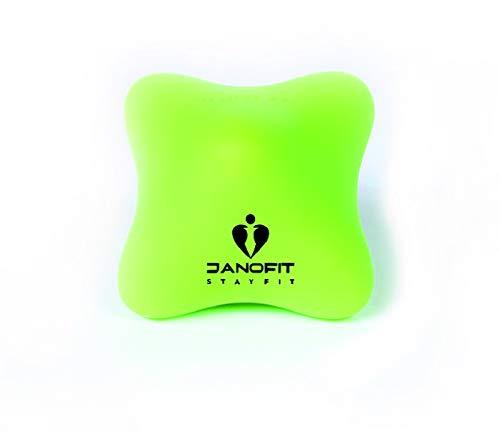 Janofit - Handmassage Triggerpunkt Gymnastikball Hilfe für unruhige Kinder - Anti Stress - Entspannung (GRÜN)