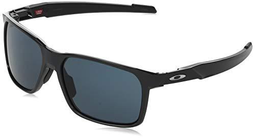 Oakley Men's OO9460 Portal X Rectangular Sunglasses, Carbon/Prizm Grey, 59 mm