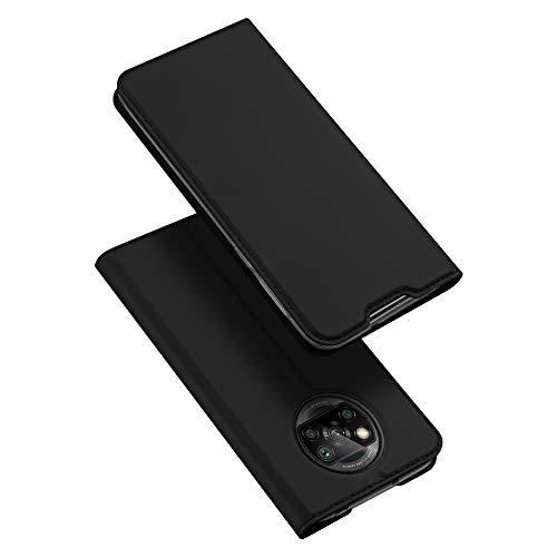 DUX DUCIS Funda Xiaomi Poco X3 NFC/Poco X3 Pro, PU Cuero Flip Carcasa Fundas Móvil de Tapa Libro para Xiaomi Poco X3 NFC/Poco X3 Pro (Negro)