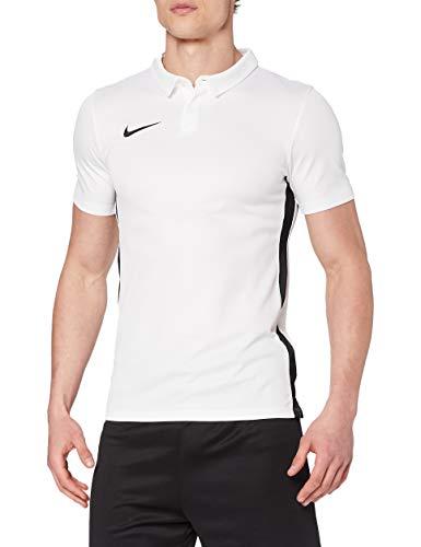 NIKE M NK Dry Acdmy18 Polo SS T-Shirt, Hombre, White/Black/Black, L