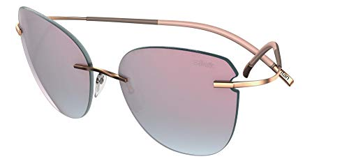 Silhouette Gafas de Sol TMA ICON 8156 Gold/Grey Pink Mirror talla única mujer