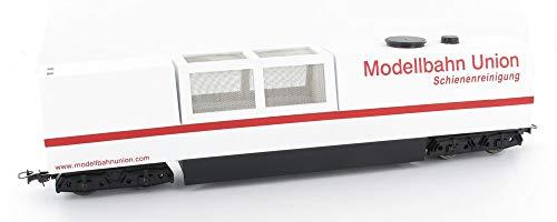 Modellbahn Union Dapol H0 Schienenstaubsauger / Schienenreinigungswagen weiß