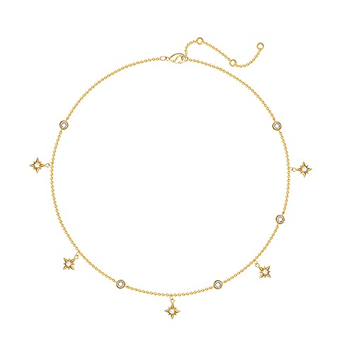 wanhaishop Joyas/Collares Collares Femenina Nueva Tendencia Simple Simple Gold-Chapado Retro Clavícula Cadena Collares para Mujeres Colgantes de Mujer