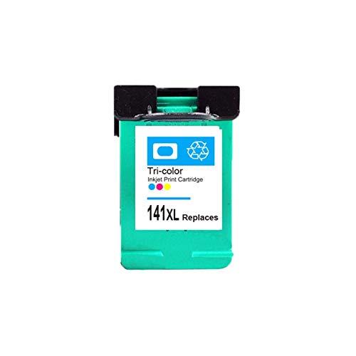 WXJ 2pcs Cartucho de Tinta Compatible for HP 140 141 for C4583 C4283 C4483 C5283 D5363 for la Impresora Deskjet D4263 D4363 C4480 (Color : 1Color)