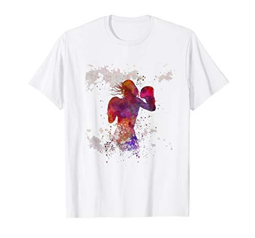 Womens Female Cardio Boxing , Women's Boxing Fitness T-Shirt T-Shirt