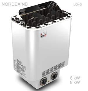 Calentador de sauna con el control integrado 'Nordex' 6,0 kw para 220/240V y 400V