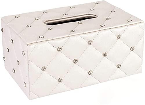 WXHHH Caja para pañuelos de Papel Caja de pañuelos de Cuero Simple de Estilo Europeo, cajonera, Adecuada para Mesa de Centro de Sala de Estar, mesita de Noche de Dormitorio, Escritorio