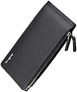 Baellerry Black Leather For Men - Trifold Wallets